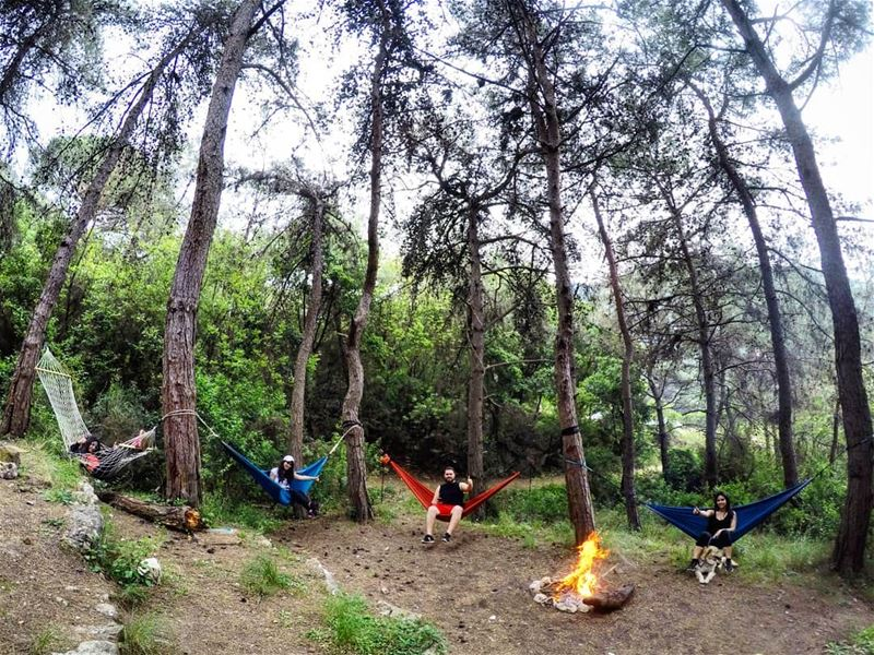 Sunday Relaxation Hammocks BonFire AinElRihane Lebanon ... (Ain el-Rihaneh)