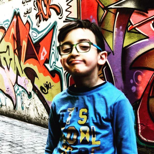Whatever!......... kid boy graffiti street hamra city art ... (Hamra, Beyrouth, Lebanon)