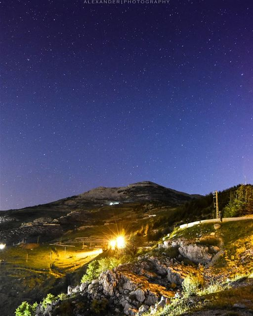 A starry chilly night | Falougha heights, Lebanon  livelovefalougha . sky... (Falougha, Mont-Liban, Lebanon)