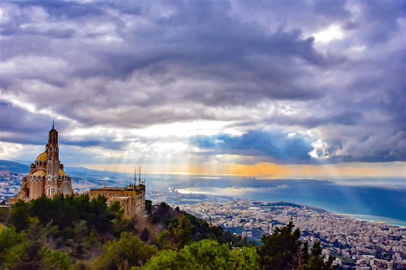 Happiness will find you just like sadness did lebanon harissa landscape... (Harîssa, Mont-Liban, Lebanon)