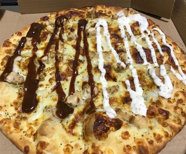 Pizza love 😻 endless !! 🤷🏻‍♂️ 🍕 pizza  ranchsauce  bbq  dominospizza ... (Lebanon)