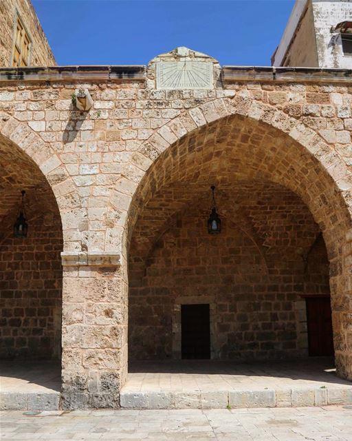 The sundial at Al Mansouri Mosque( Jameea Al Mansouri Al Kabir- 1413) in...
