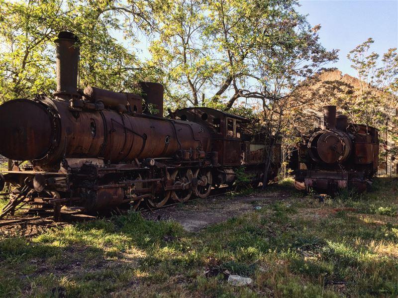 The last stop. 🚂 abandonedtrain abandonedplaces exploring lebanon ...