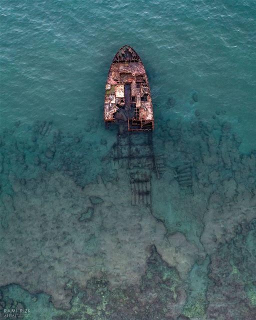 Stuck In Time ⛵⏳... lebanon boat dji drones quadcopter aerial ... (Lebanon)