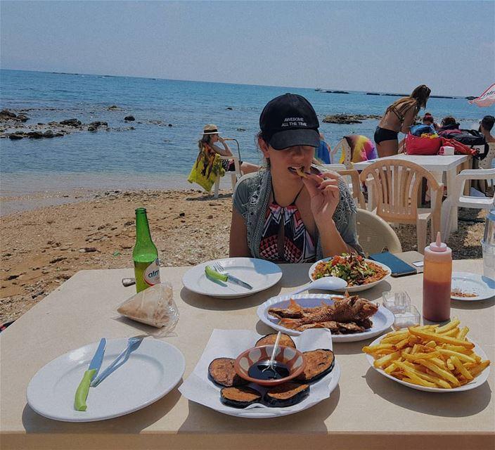 Lucky to have her as a sister @carolezammarie 💙👭 (Tyre, Lebanon)