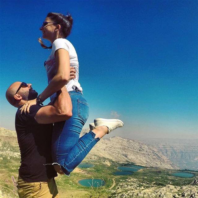 jump ! holdingmefortherestofhislife 😄💟... clearsky greenery ... (El Laqloûq, Mont-Liban, Lebanon)