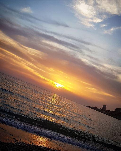 A beautiful sunset ... lebanon jounieh beach sea colorful ...