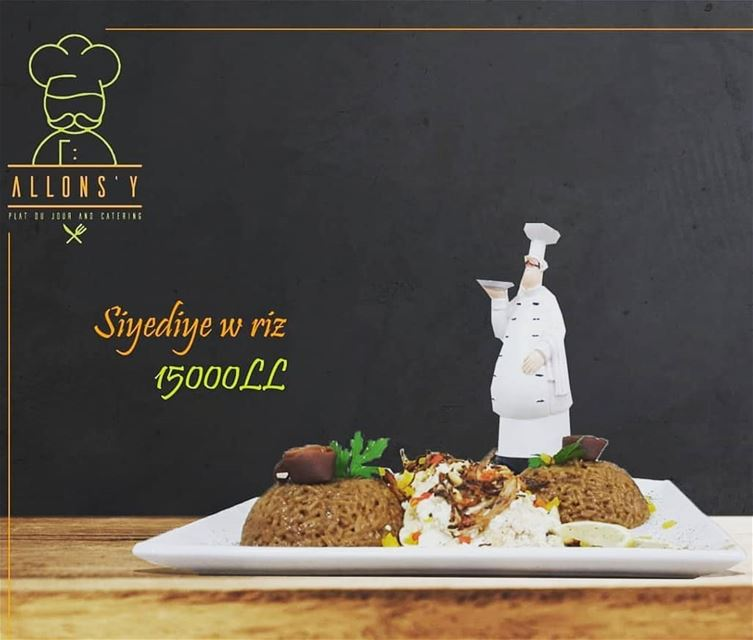 @allonzyresto - Plat Du JourSiyadiye with salad and dessert 15000LLFor... (Allons'y)