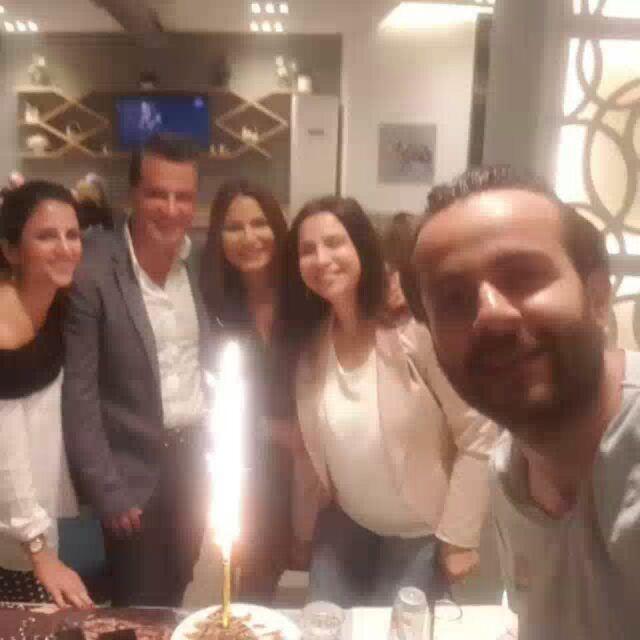 When best friends celebrate ur husband birtbday surprise dinner suchi...