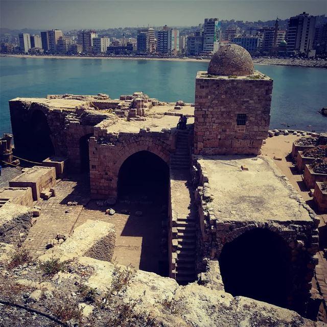 sidon_sea_castle sea naturephotography lebanonspotlights lebanon saida... (Sidon Sea Castle)