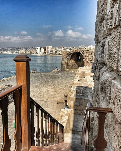Inside the castle.. saida old sea castle... (Saïda, Al Janub, Lebanon)