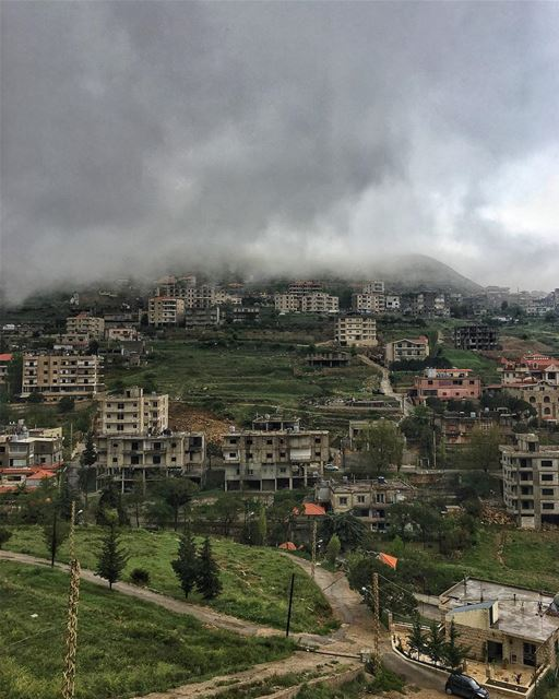 Gray skies are just clouds ☁️ passing over ♥️ peterwenmaken @livelovesawfa (Sawfar, Mont-Liban, Lebanon)
