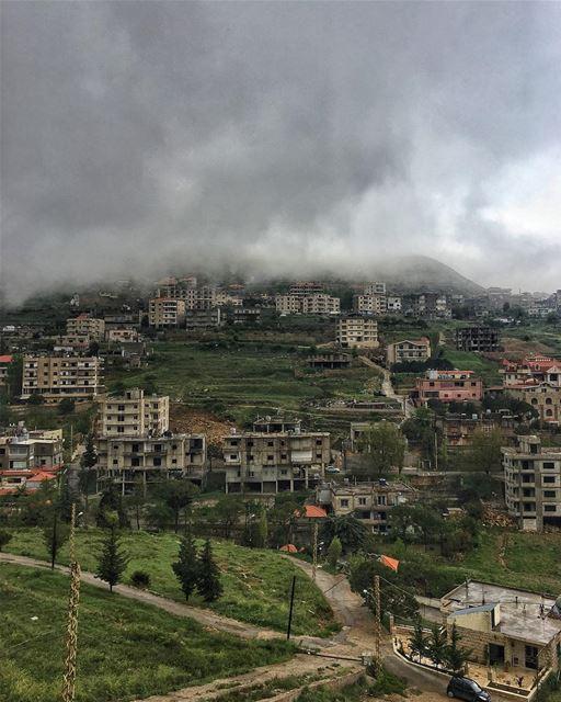 Gray skies are just clouds ☁️ passing over ♥️ peterwenmaken @livelovesawfa (Sawfar, Mont-Liban, Lebanon)