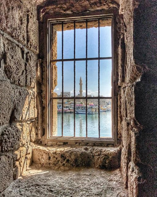 Another frameview.. saida city lebanon window view... (Saïda, Al Janub, Lebanon)