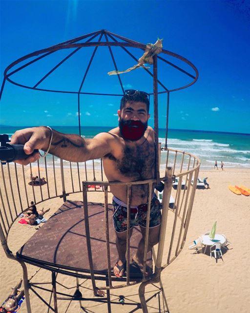 Baywatch 🌞 beach shore sea summer sand baywatch watch gopro up ... (Tyre, Lebanon)