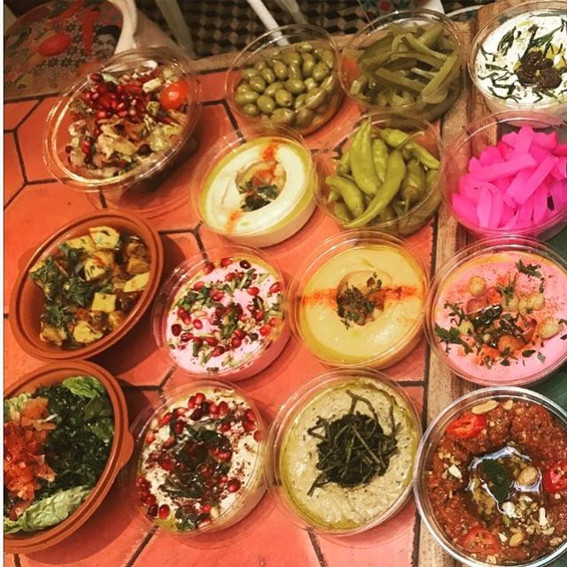 Mezze Picnic 💖💖💖@comptoirlibanais .... mezze picoftheday ... (Comptoir Libanais at Wigmore Street W1)