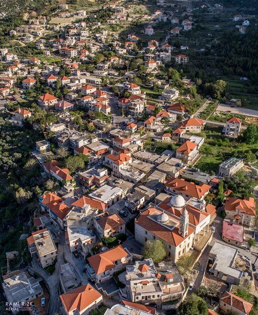 Brick Village 🏡... douma northlebanon lebanon dji drones ... (Douma, Liban-Nord, Lebanon)