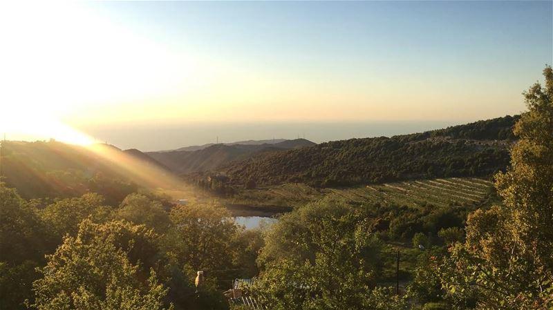 nature naturelovers sunset sunsetlovers amazing view peaceful... (Annâya, Mont-Liban, Lebanon)