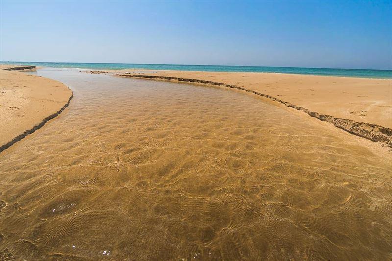 River meets sea sour ... (Tyre, Lebanon)