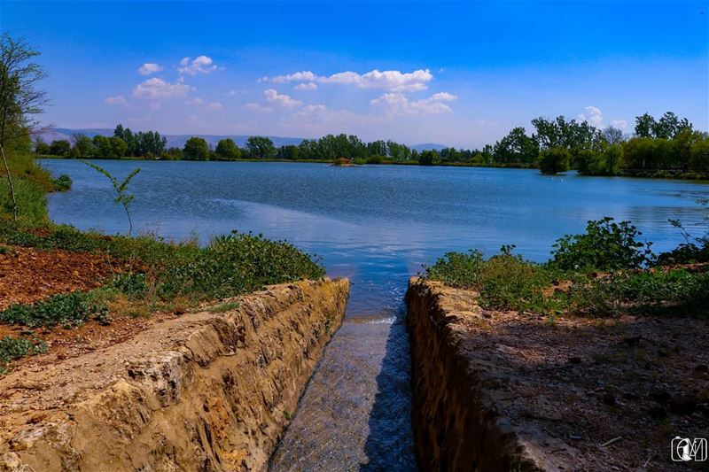 Source of Life. water. watercolor lake nature sky natureshot ... (Deïr Taanâyel, Béqaa, Lebanon)