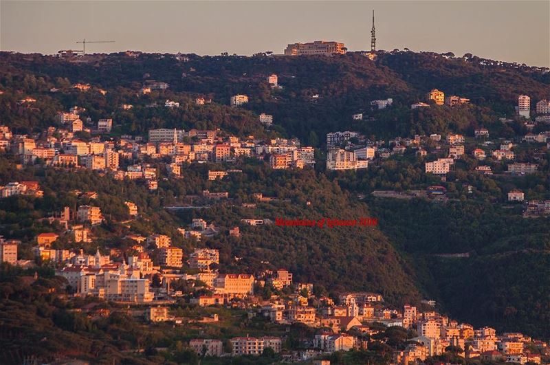 Typical mountain views with Beit Chabeb (lower part) Bikfaya (upper part)...