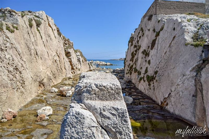 The Great Trench, used by the Phoenicians as a shipyard for the...