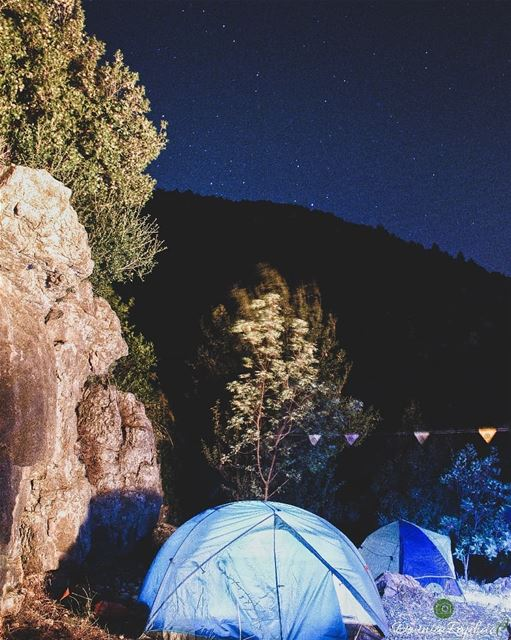 Camping under the right sky is a great chance to view the night sky... and... (Hakel, Mont-Liban, Lebanon)