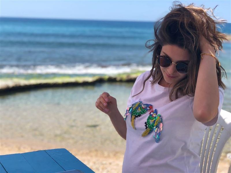 Miss Lebanon 2014, Sally Greige enjoying  a fresh day at RAY'sPhoto taken... (RAY's Batroun)