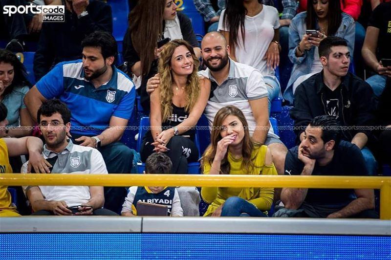 Real women watch basketball!📷 by @sportscode.images / @lararapguirlian... (Al Riyadi Beirut Club)