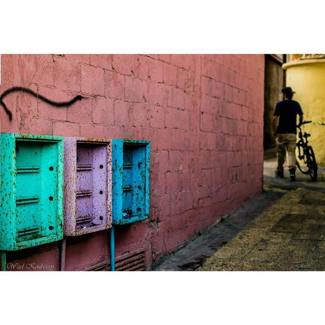 أزقة صور urban alley colors urbex street tyre urbanwalls lebanon ... (Tyre, Lebanon)