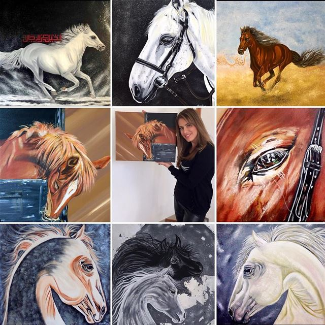 Me, My horses, and my Art👩🎨Horses are Angels 👼 without wings❤️ ...