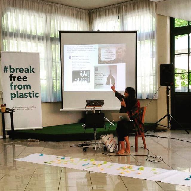 At ZeroWaste Europe presenting balaplastic, the ecosouk, pushing for ... (Park Maksimir, Zagreb)