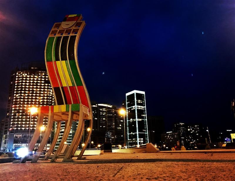 Art speaks where words are unable to explain.💙••••••••••chair... (Beirut, Lebanon)