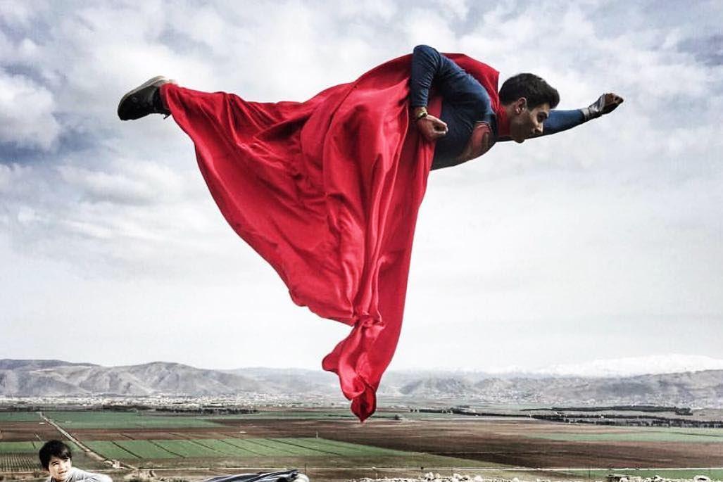 When I grow up I want to be Superman!🔴 SpotTheLittleKid🔴 bekaa ... (`Ammiq, Béqaa, Lebanon)
