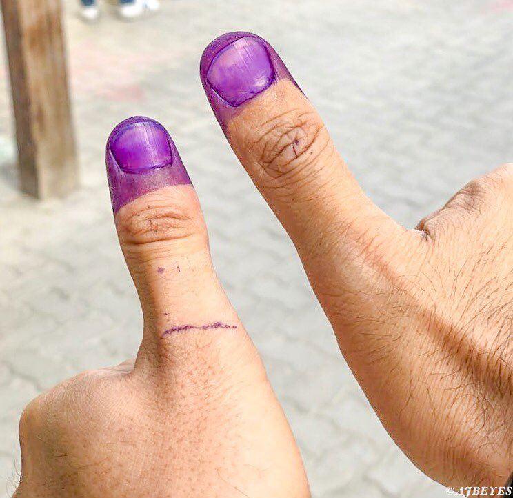 Voted 10452km2. vote 10452_lebanon lebanonelections2018 dubai ... (Dubai, United Arab Emirates)