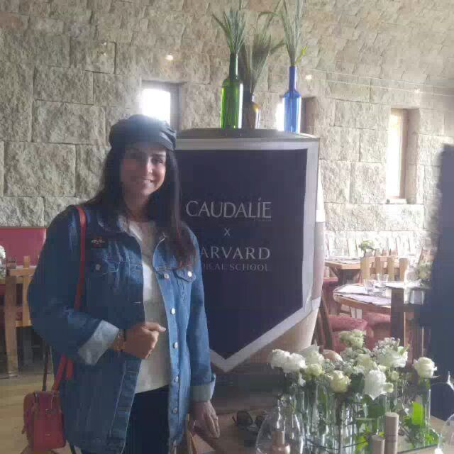 Attending caudalie event vinergie premiercru beauty beautiful ... (Massaya)