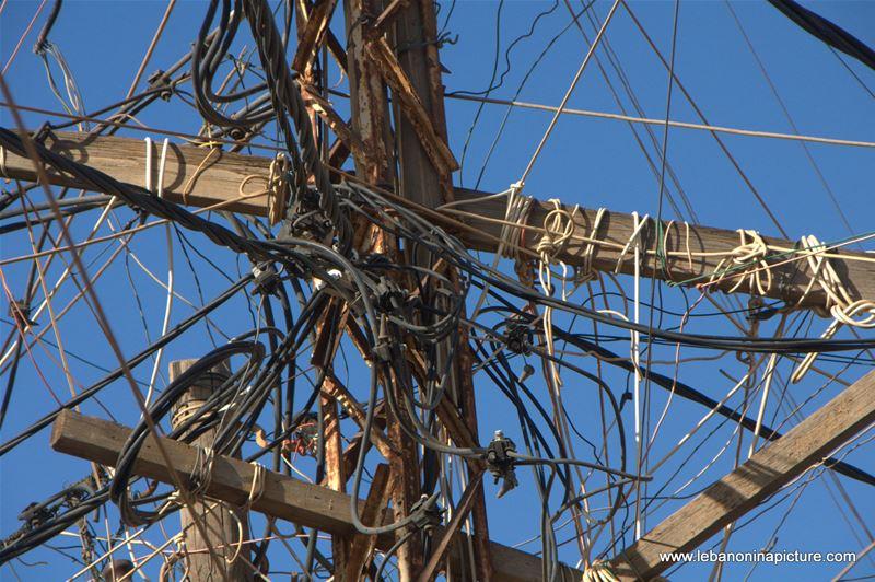 Electricity Cable Chaos (Ouzai, Beirut, Lebanon)