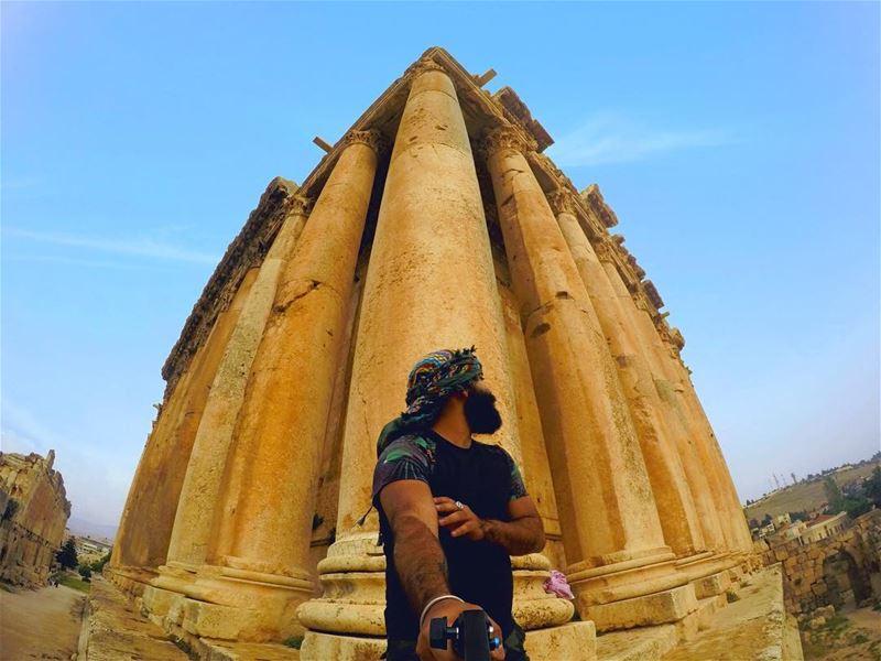 All gods had beards 🧔🏾🧔🏽🧔🏼🧔🏻🧔🧔🏿 TheyWereWorshippingMeInside... (Baalbek , Roman Temple , Lebanon)