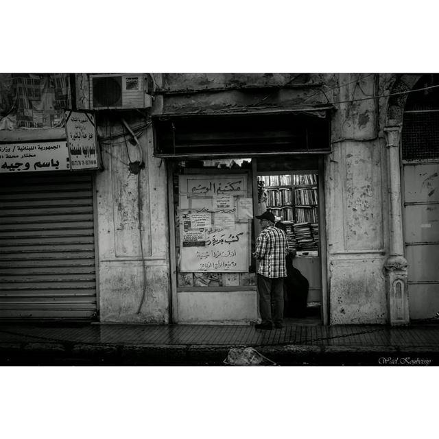 بيروتيات street lebanon urban bnw blackandwhite library shops ... (Bachoura, Beyrouth, Lebanon)
