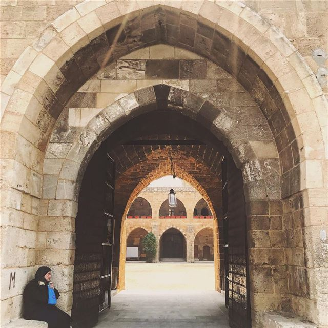 Arched inside out🔗 Lebanon tb travel travelgram traveler wanderlust... (Saïda, Al Janub, Lebanon)