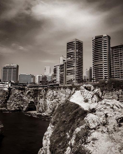 Solid Rock.. -📍Pigeon Rock, Beirut, Lebanon 🇱🇧- beirut beyrouth ... (Beirut, Lebanon)