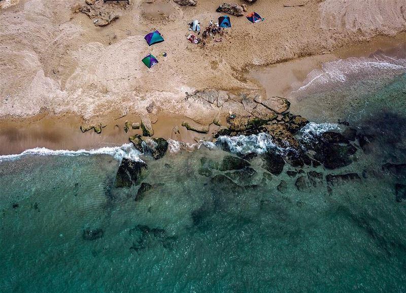 My first beach camp ☀️⛺️🏖.......... lebanon lebanon_hdr ... (Batroûn)