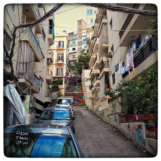🇱🇧 Small alley... بيروت_مش_بشعة بيروت uglybeirut beirut ... (Mar Mikhael-Armenia The Street)