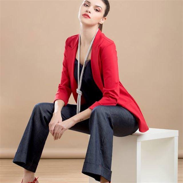Cool jeans colored pants by La CoccinellaDailySketchLook 296 shopping ... (Er Râbié, Mont-Liban, Lebanon)