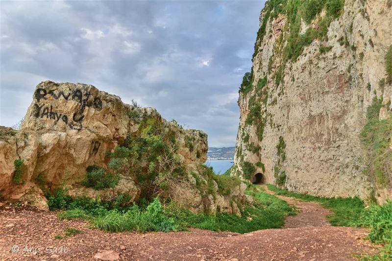 lebanon chekka tunnel north rocks landscape landscapephotography ... (Chekka)