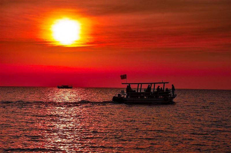 ⛵️ 🌊 ☀️ byblos jbeil lebanon mediterranean sea mare tramonto ... (Byblos, Lebanon)