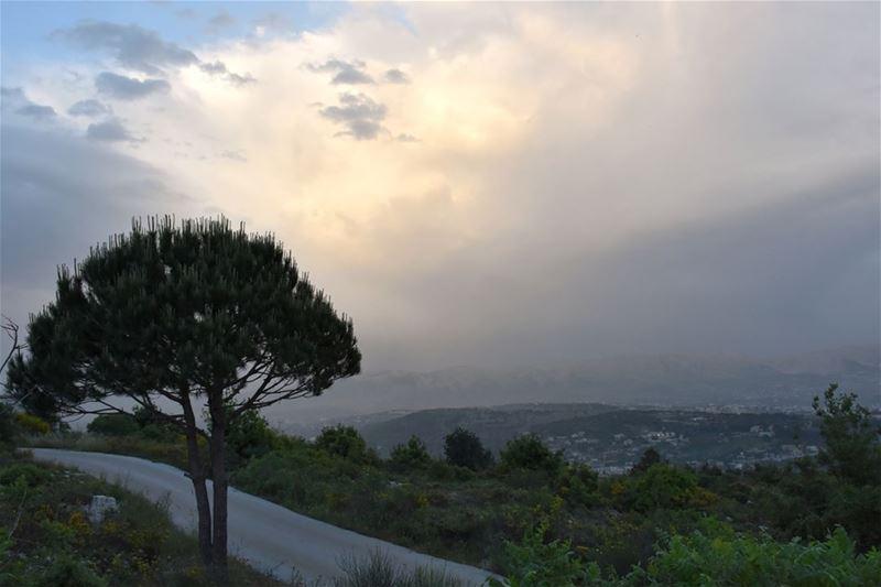 Country Road Dusk and Pastel Extravaganza love beautiful country ... (Deïr El Qamar, Mont-Liban, Lebanon)