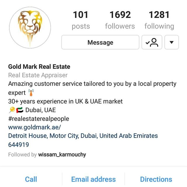 Please all follow the best @goldmarkrealestate @wissam_karmouchy ... (Dubai, United Arab Emirates)