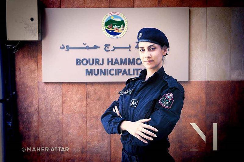 "Meet Romy .. Pollice officer .. ""Female officers have calmed down volatile... (Burj Hammud)"
