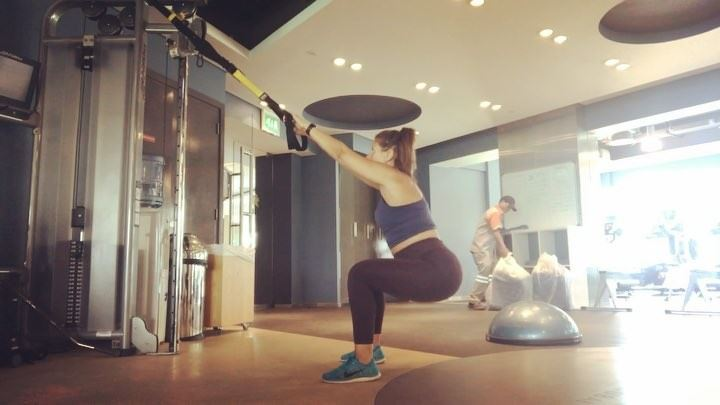 @rhee_mars this one for you baby 😘 trx  workout that will make you ... (Dubai, United Arab Emirates)